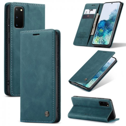 Caseme-013 Magnetic Card Case For Samsung S20 Blue