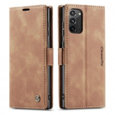 Caseme-013 Magnetic Card Case For Samsung Note 20 Brown