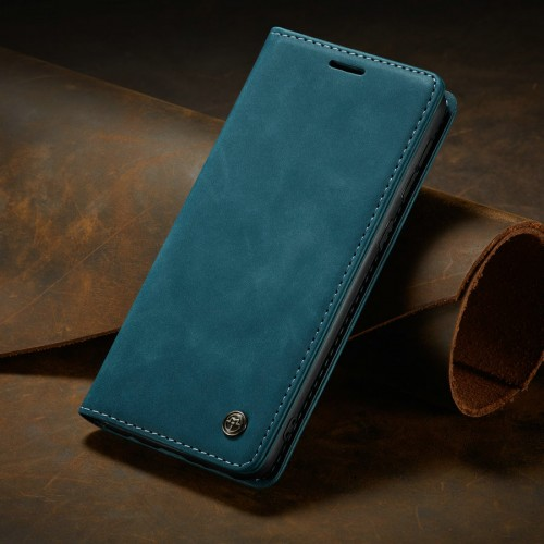 Caseme-013 Magnetic Card Case For Samsung S21 Blue