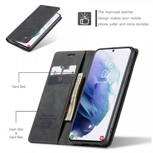 Caseme-013 Magnetic Card Case For Samsung A10 Red