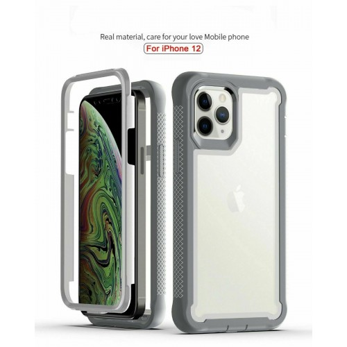 Qihang Series 2in1 Anti-drop Case For iPhone 12 Pro Max 6.7 Gray