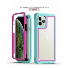 Qihang Series 2in1 Anti-drop Case For iPhone 12/12 Pro 6.1 Light Blue