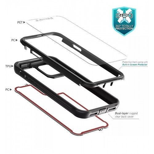 Qihang Series 2in1 Anti-drop Case For iPhone 12 Pro Max 6.7 Blue