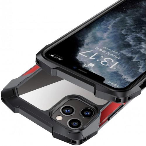 Black Samurai series Anti-Drop Case For iPhone 12 Pro Max 6.7 Red