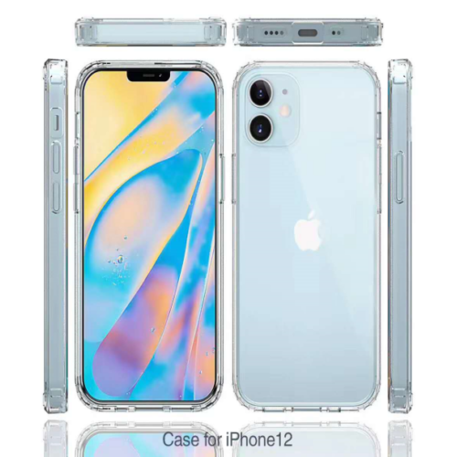 Shockproof TPU+PC 2.0MM Case for iPhone 12/12 Pro 5.4 Clear