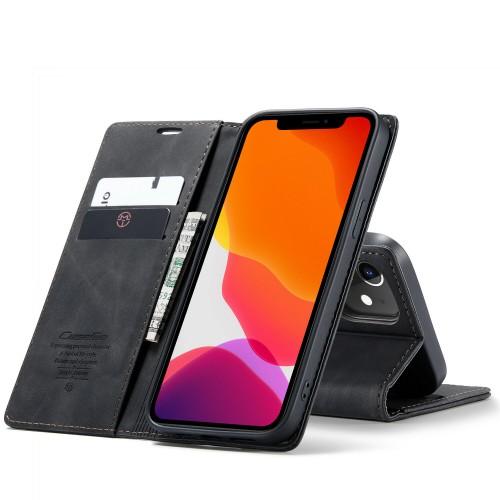 Caseme-013 Magnetic Card Case For iPhone 12 Mini 5.4 Black