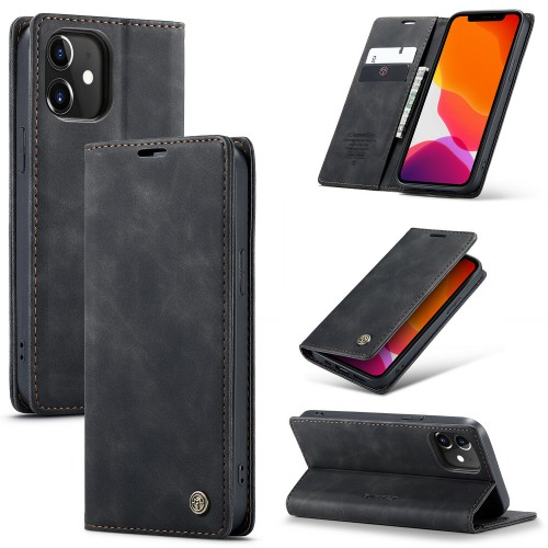 Caseme-013 Magnetic Card Case For iPhone 12 Pro Max 6.7 Black