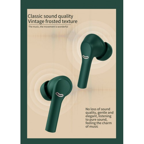 TWS Bluetooth Earphone For J5 Green