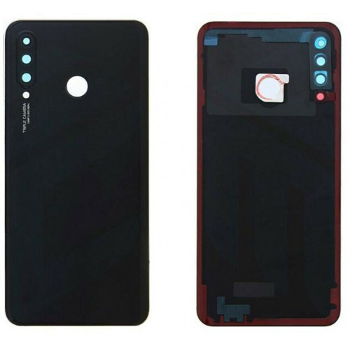 For Huawei P30 Lite Rear Glass Battery Back Cover Housing Replacement+CameraLens 48MP Black