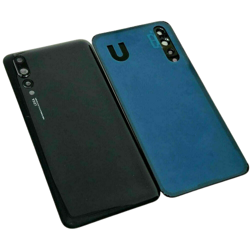 For Huawei P20 Pro Rear Glass Battery Back Cover Replacement+Camera Lens Black