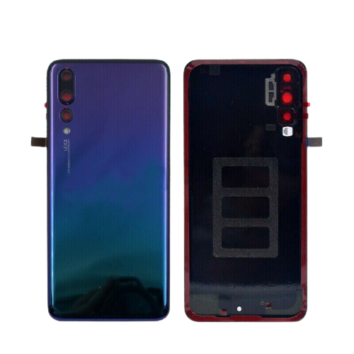 For Huawei P20 Pro Rear Glass Battery Back Cover Replacement+Camera Lens Twilight