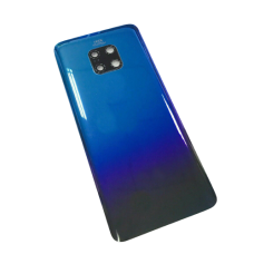 For Huawei Mate 20 Rear Glass Battery Back Cover Housing+Camera Lens Gradient Blue