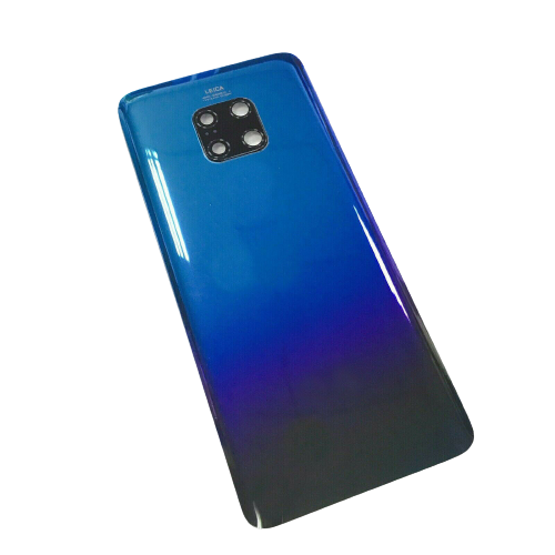 For Huawei Mate 20 Pro Rear Glass Battery Back Cover +Camera Lens Gradient Blue