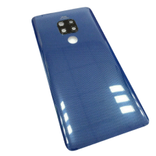 For Huawei Mate 20 Rear Glass Battery Back Cover +Camera Lens Blue