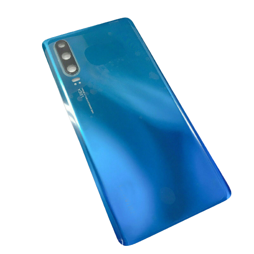 For Huawei P30 Rear Glass Battery Back Cover Housing Replacement+Camera Lens Aurora Blue