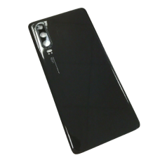 For Huawei P30 Rear Glass Battery Back Cover Housing Replacement+Camera Lens Black