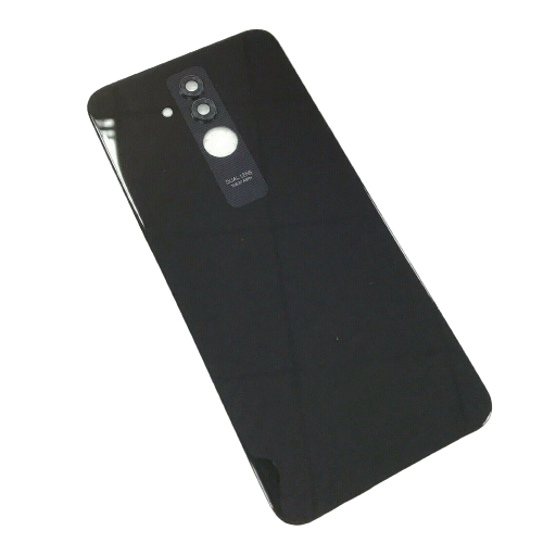 For Huawei Mate 20 lite Rear Glass Battery Back Door Cover Housing+Camera Lens Black