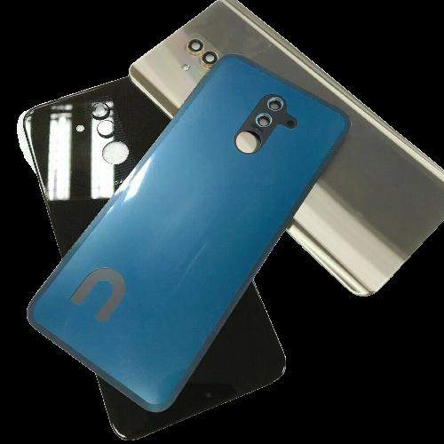 For Huawei Mate 20 lite Rear Glass Battery Back Door Cover Housing+Camera Lens Blue