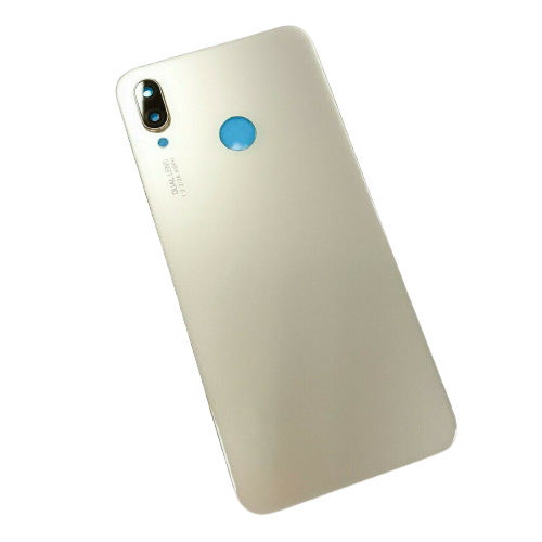 For Huawei P20 Lite Rear Glass Battery Back Door Cover Housing Adhesive+Camera Gold