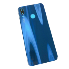 For Huawei P20 Lite Rear Glass Battery Back Door Cover Housing Adhesive+Camera Blue