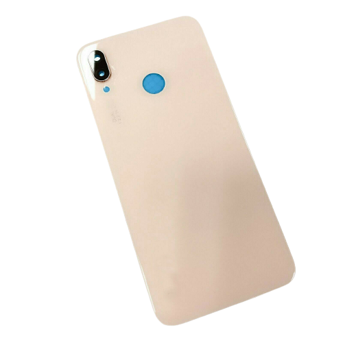 For Huawei P20 Lite Rear Glass Battery Back Door Cover Housing Adhesive+Camera Pink