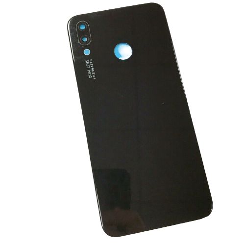 For Huawei P20 Lite Rear Glass Battery Back Door Cover Housing Adhesive+Camera Black