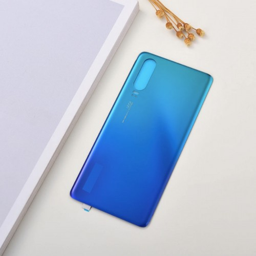 For Huawei P30 Pro Rear Glass Battery Back Cover Housing Replacement Adhesive Aurora Blue