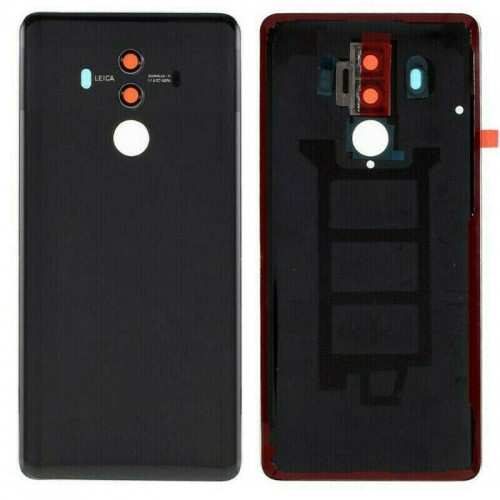 For Huawei Mate 10 Pro Rear Glass Battery Back Cover Adhesive+Camera Black