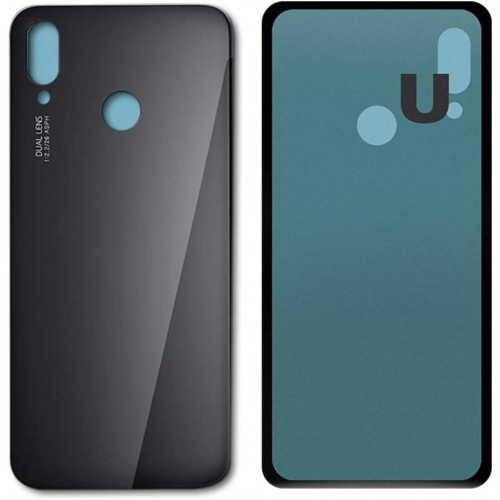 For Huawei P20 Lite Rear Glass Battery Back Door Cover Housing Replacement Black