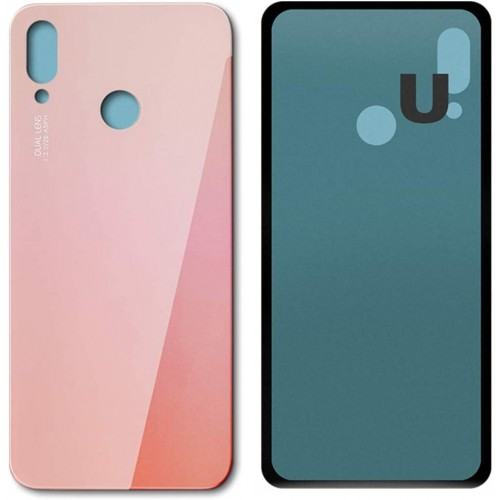 For Huawei P20 Lite Rear Glass Battery Back Door Cover Housing Replacement Pink