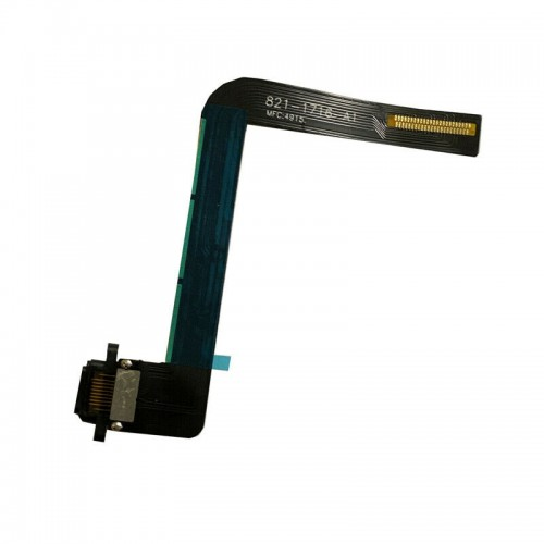 """For iPad 7th Gen 10.2"""" 2019 Charging Port Dock Connector Flex Cable Replacement Black"""