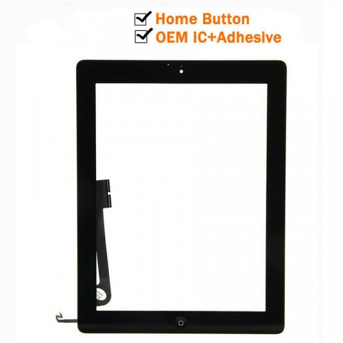 For iPad 4 A1458 A1459 A1460 Touch Screen Glass Digitizer Replacement Black OEM