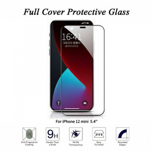 For iPhone 12 Mini Curved Tempered Glass Screen Protector