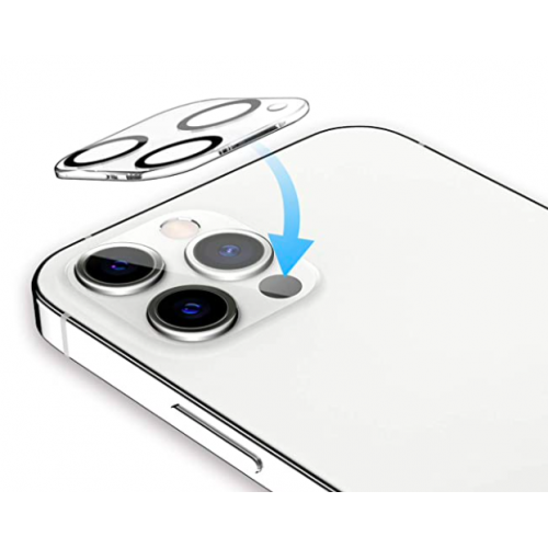 For iPhone 12 Pro 3D Full Cover Camera Lens Tempered Glass Protector