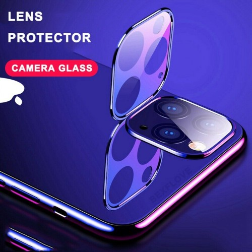 For iPhone 11 Pro / 11 Pro Max 3D Real Back Camera Lens Tempered Glass Screen Protector Silver