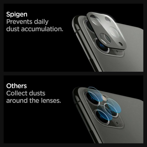 For iPhone 11 Pro / 11 Pro Max 3D Real Back Camera Lens Tempered Glass Screen Protector Black