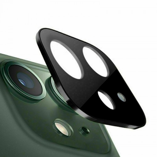 For iPhone 11 3D Real Back Camera Lens Tempered Glass Screen Protector Black