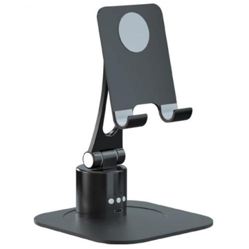 RK-C40 Universal Aluminum Alloy Tablet Mobile Phone Bracket Phone Stand Adjustable Phone Holder Black