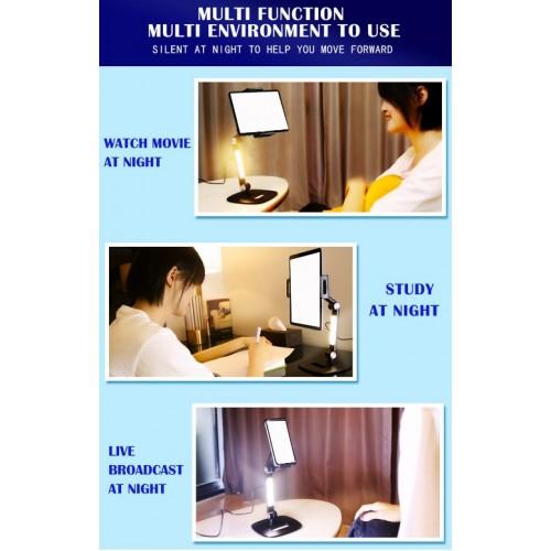 Mobile Phone Desktop Live Broadcast Stand Holder Desk Table Mount For IPhone Tablet