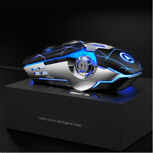 Wired USB Optical Gaming Mouse Mice For Pc Laptop Mac Computer With Scroll Wheel