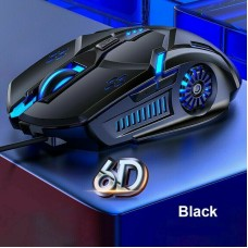 Wired LED Gaming Mouse USB Optical Mice For Pc Laptop Mac Computer Scroll Wheel Black
