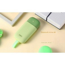 Portable 5000mAh Mini Power Bank Dual USB Candy Color For Huawei Samsung Android Green