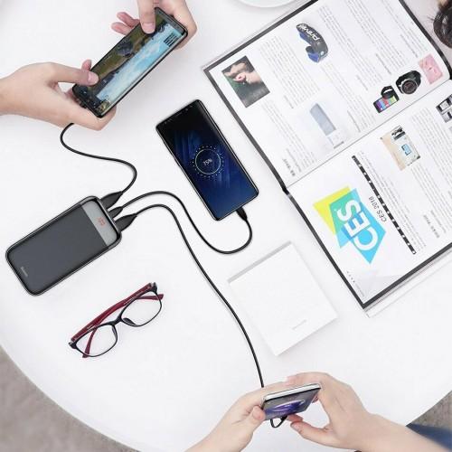 Baseus Mini Cu power bank 20000mAh 2x USB / USB Typ C PD 3A black