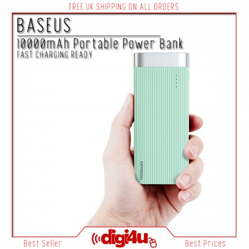 Baseus 10000mAh Portable Power Bank Fast Charger For Samsung Galaxy S20 S10 S9+ Blue