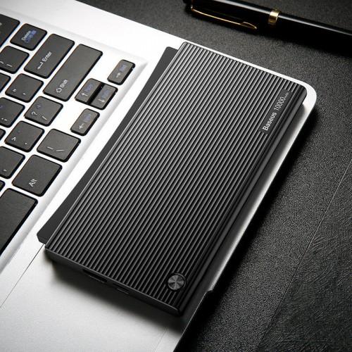 Baseus 10000mAh Portable Power Bank Travel Charger For Huawei P20 Mate 20 Pro Black