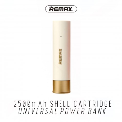NEW Remax Shell Cartridge 2500mah Battery Protection Power Bank Travel Charger White