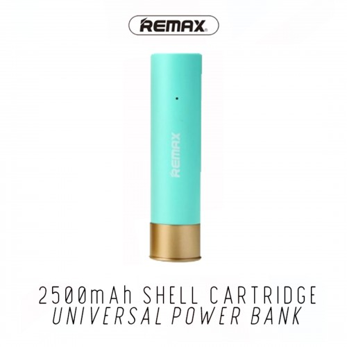 NEW Remax Shell Cartridge 2500mah Battery Protection Power Bank Travel Charger Blue