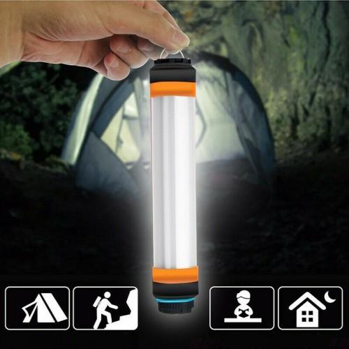 USB Power Bank Rechargeable Camping Light Hiking Flashlight Waterproof Lamp