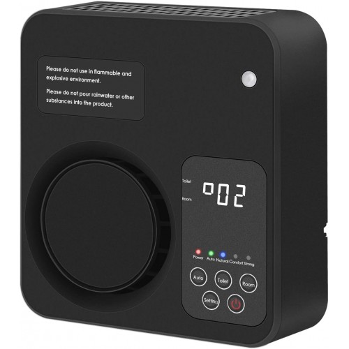 Ozone Generator Ozonator Air Purifier Air Cleaner Negative Ions  For Home Use - Black