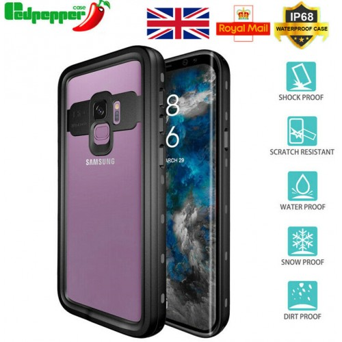 Redpepper Professional Waterproof Dot Series Case For Samsung S9 Black